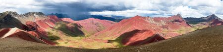 Rainbow mountains or Vinicunca Montana de Siete Colores, Cuzco region in Peru, Peruvian Andes 版權商用圖片