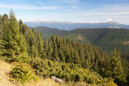 Panoramic view of Mount Hoverla or Goverla, Ukraine Carpathian mountains Stock Photo