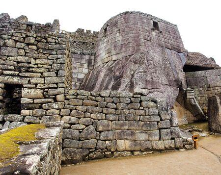 Machu Picchu, detail from peruvian incan town, sacred valley, Cusco region, Peru