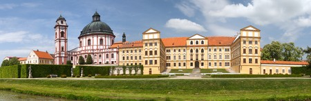 Jaromerice nad Rokytnou baroque and renaissance castle from 18th century, South Moravia,  Czech Republic, Central Europe