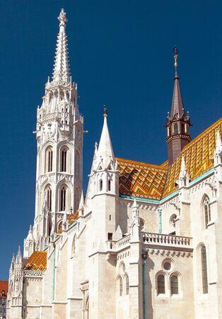 The Roman Catholic church, Matthias Church, Budapest, Hungary 스톡 콘텐츠