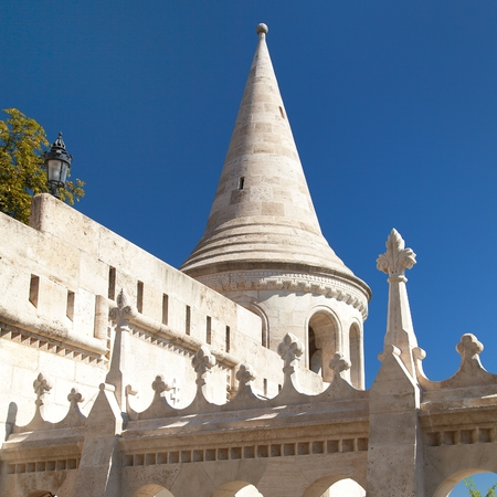 Fisherman Bastion, Budapest, Hungary, Hungarian famous place, Gothic architecture Editorial