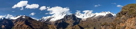 Mount Saksarayuq, Andes mountains, Choquequirao trekking trail near Machu Picchu