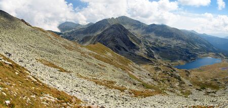 Panoramic mountain view from romanian Carpathia, Retezat mountains, Romania Banco de Imagens