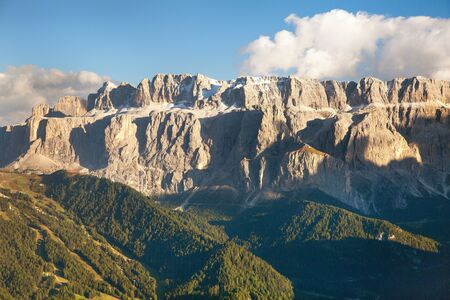 Sella Val Gardena or Wolkenstein, Sella Val Gardena, South Tyrol, Alps Dolomites mountains, Italy