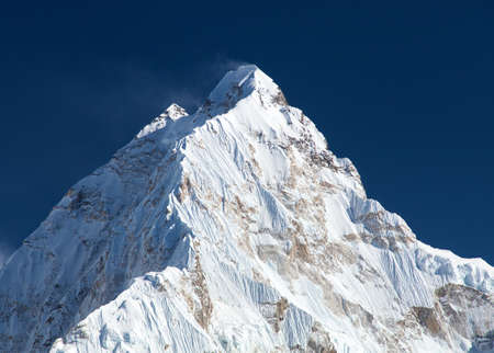 Mount Nuptse, beautiful mount near Everest, Sagarmatha national park, khumbu valley, Solukhumbu, Nepal Himalayas Stock Photo