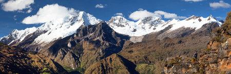 Mount Saksarayuq, Andes mountains, Choquequirao trekking trail near Machu Picchu, Inca trail, Cuzco or Cusco region in Peru
