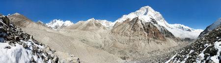 Mount Makalu, Lhotse and Everest, Nepal Himalaya, Barun valley