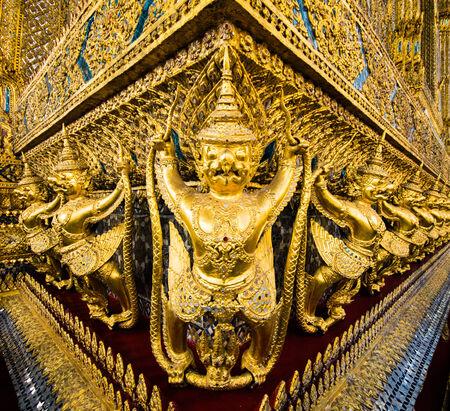 asian culture: wat, phra, kaew, thai, asia, palace, grand, bangkok, statue, temple, southeast, kaeo, thailand, demon, sculpture, asian, culture, destination, architecture, religion, spiritual, buddhism, travel, guardian, creature