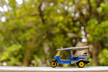 Three wheel taxis in Thailand