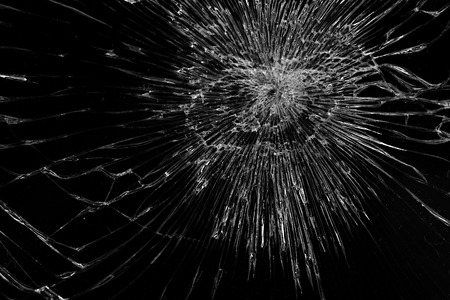 Broken glass, With black background