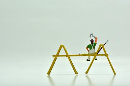 Concept, Painters Group, On a white background Reklamní fotografie