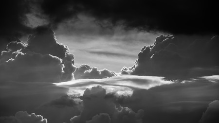bw: Gateway to heaven BW, Abstract clouds