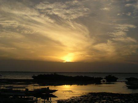 philippine: Sunrise Over Cebu Straits, Philippine Islands