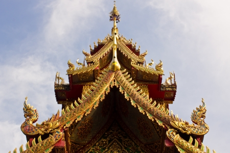 chaimongkol: Ubosot in Wat chaimongkol Stock Photo