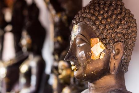blissfull: Buddha head In Wat Doikum 2 Stock Photo