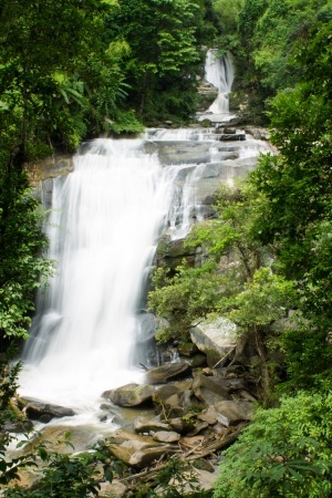 A beautiful waterfall in northern Thailand photo