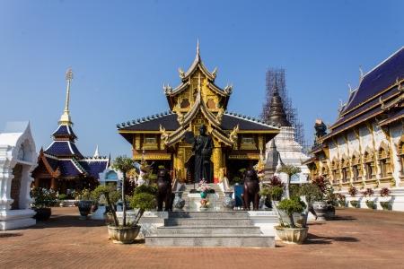 Khuba Htuang statue in Wat Banden,Chiangmai Thailand photo