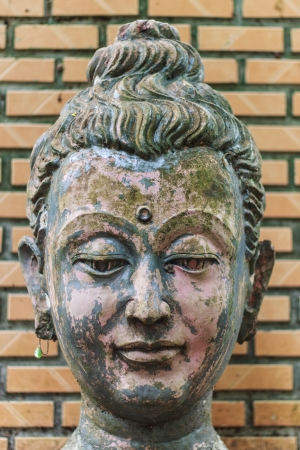 Head Buddha head In Wat Umong Chiangmai photo