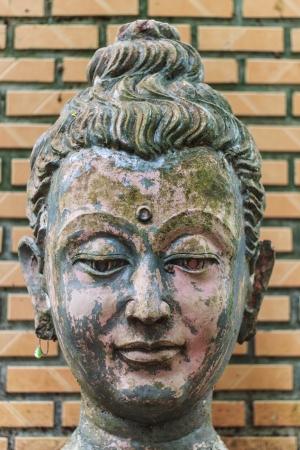 blissfull: Head Buddha head In Wat Umong Chiangmai Stock Photo