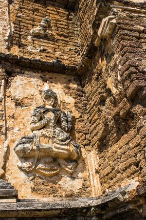 wat jedyod: angel on the wall in Chedi , wat Ched yod in Chiangmai