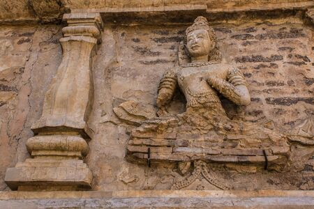 wat jedyod: angel in Chedi , wat Ched yod in Chiangmai Stock Photo