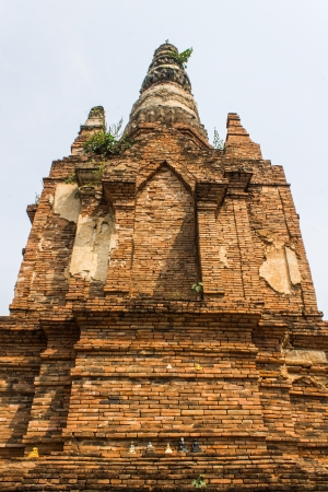 imbedded: Old Chedi in Wat  Phra That Hariphunchai Stock Photo