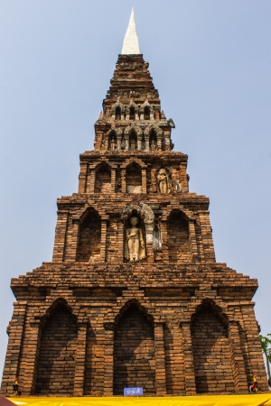 Old Chedi in Wat  Phra That Hariphunchai photo