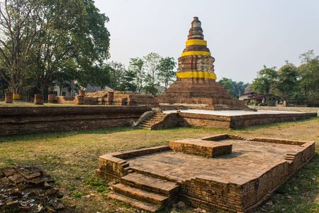 Old Chedi in Wiang Kum Kam, Ancient City photo