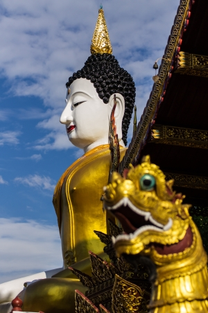 big buddha image at golden triangle photo