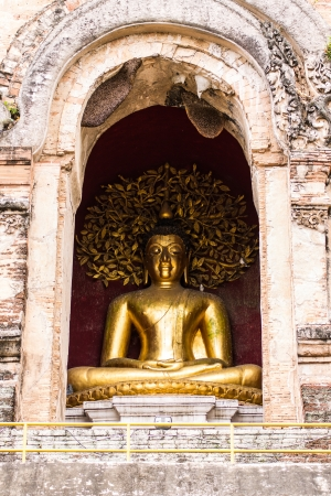 Buddha Statue In Chedi , Wat Chedi Lung Chiangmai photo