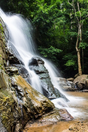 Tad Mork Water Fall in Maerim , Chiangmai Thailand photo