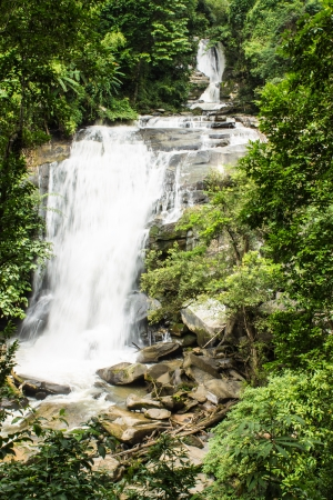 Sirithan waterfall in Doi Inthanon , Chomthong chaingmai Thaland photo