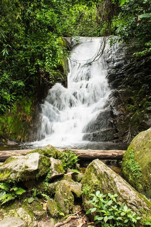 Siribhum waterfall in Doi Inthanon , Chomthong chaingmai Thaland photo