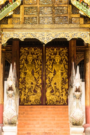 old Ubosot Lanna Style in Wat Buak Krok Luang , Chiangmai Thailand photo