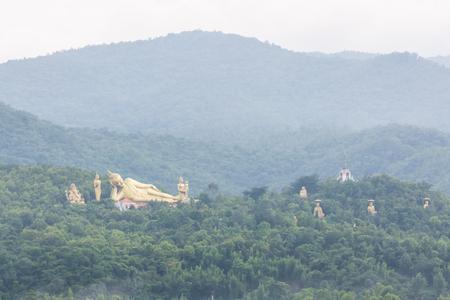 chiangmai: Golden Buddha big statue at Wat Mokkanlan in Chomthong , Chiangmai Thailand
