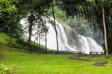 wachirathan waterfalls , InThanon Chiangmai Thailand photo