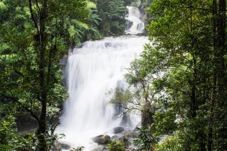 taking the plunge: Sirithan waterfall in Doi Inthanon , Chomthong chaingmai Thaland