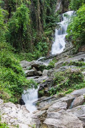 taking the plunge: hauykeaw waterfall in Doi Suthep-Pui Nationnal Park , chaingmai Thaland