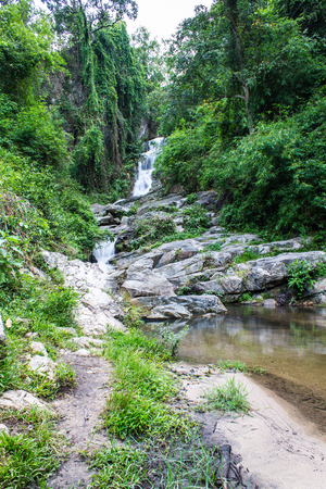 hauykeaw waterfall in Doi Suthep-Pui Nationnal Park , chaingmai Thaland photo