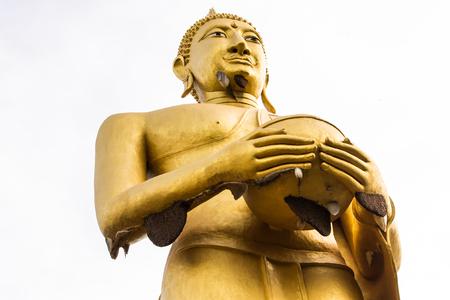limosna: Buda limosna taz�n postura Foto de archivo