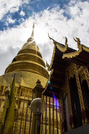Golden Pagoda, Phra That Hariphunchai photo