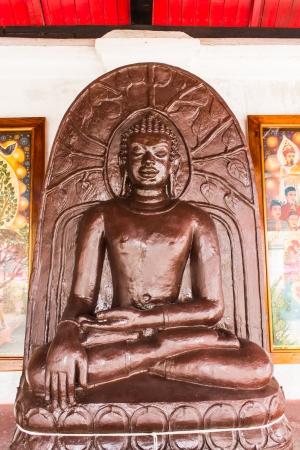 imbedded: Buddha Statue in Wat Phra That Hariphunchai