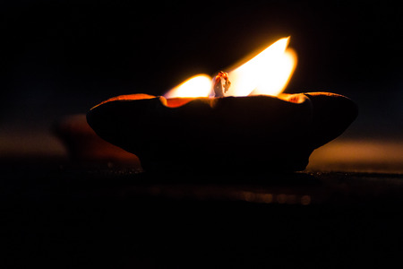 Candle in Loi Krathong Festival photo