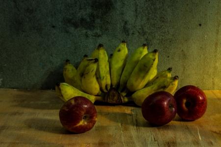 Apple And Banana still life photo