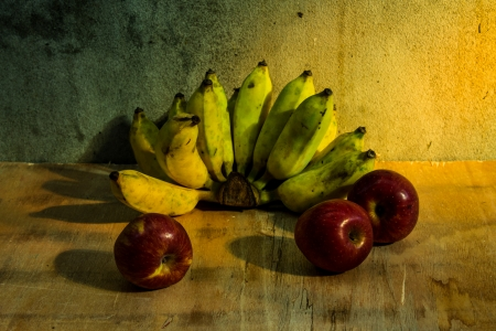 Apple And Banana still life photo