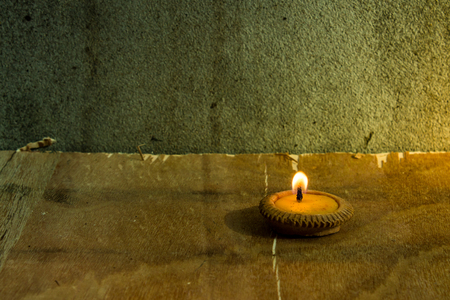 Still life - Candle in Loi Krathong Festival photo