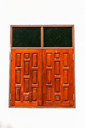Wooden window of Thai Style photo