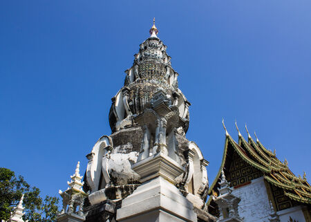 Pagoda in Wat Kru Toa , Chiangmai Thailand photo