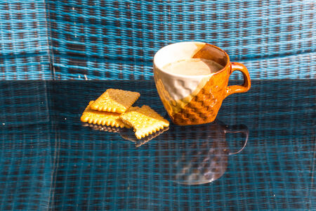 Still Life breakfast , Coffee Cup  White Butter photo